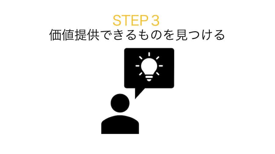 ステップ3:求めているものの中で自分自身が提供できる価値を見つける